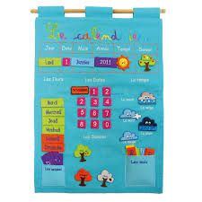 """Calendrier basic """"Bleu"""" - Ref. Geek Baby, Toys R Us, Baby Kids, Crafts For Kids, Geek Stuff, Games, Velcro, Aide, Dimensions"""