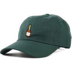KLP The Henny Dad Hat in Spruce ($30) ❤ liked on Polyvore featuring men's fashion, men's accessories, men's hats and klp