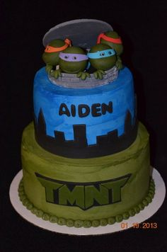 TMNT  Cake by Chassity