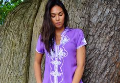 NEW AUTUMN   Purple Lilac Aisha Short Sleeve Boho Trendy Caftan Kaftan -resortwear,Birthdays, Honeymoon, Wedding, Maternity, winter dress by MaisonMarrakech on Etsy