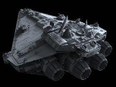 Vigil-class Star Corvette   Fractalsponge.net