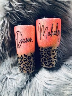 Excited to share this item from my shop: Hot coral and leopard print glitter tumbler, half leopard tumbler, leopard print tumbler with name, leopard print cup personalized Vinyl Tumblers, Custom Tumblers, Tumblr Cup, Glitter Cups, Glitter Tumblers, Diy Resin Crafts, Neon Crafts, Cricut Craft Room, Custom Cups
