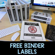 Enjoy the free binder labels for your science lessons. All of the files are editable to suit your needs, but they're pretty awesome as is.These labels go great with my Station Labs or LessonsThe font I used is called Avenir Book if you want to edit them. Science Curriculum, Science Resources, Science Classroom, Science Lessons, Science Worksheets, Science Activities, Teaching Resources, Teacher Binder Organization, Classroom Organisation