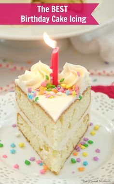 <em> This amazing <strong>  Birthday Cake Icing Recipe </strong> is easy to make and delicious! My favorite go-to vanilla buttercream that pairs perfectly with cakes and cupcakes. </em>   <strong> Birthday Cake Icing Recipe </strong> If it were for me, I would only eat bread and cake. I wish the bread and cake diet would exist! It would be something easy that I can stick with. Unfortunately, good things are only allowed in moderation (in a...
