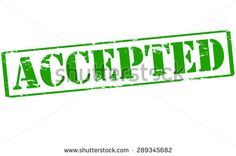Rubber stamp with word accepted inside, vector illustration