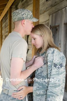 Pre-Deployment Photo pose ideas for  Military, Air Force, Army  (c) Christina Lee Photography  https://www.facebook.com/pages/Christina-Lee-Photography/185989454855025