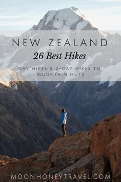 26 Best Hikes in New Zealand - find out where to hike in the North Island and the South Island Discover the best hiking destinations in New Zealand. We've curated our favorite New Zealand day hikes and overnight hikes to backcountry huts. North Island New Zealand, Nz South Island, New Zealand Adventure, New Zealand Travel Guide, Hiking Guide, Best Hikes, Australia Travel, Travel Guides, Travel Tips