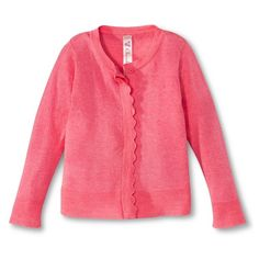 Infant Toddler Girls' Scallop Trim Sweater