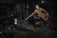 Auto mechanics pay homage tothe legendary artworks ofRenaissance painters