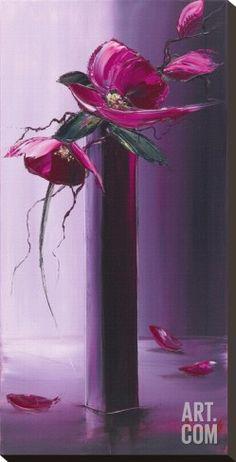 Art.fr - Tableau sur toile 'Elegance En Mauve II' par Olivier Tramoni