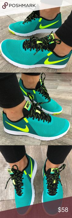 ab08eb286 Shop Women s Nike Green Blue size Various Sneakers at a discounted price at  Poshmark. Description  🐠Ocean blue🐠Running 🐠Nike new.