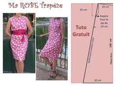 Comment faire une robe simple zippé et créer son patron, je vous dit toutes les astuces que j'ai utilisé pour réaliser ma robe trapèze.