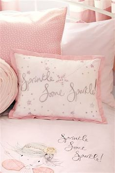 Buy Little Fairy Cushion from the Next UK online shop Fairytale Bedroom, Fairy Bedroom, Girls Bedroom, Bedroom Ideas, Friedrich Schiller, Romantic Shabby Chic, Fru Fru, Pink Bedding, Little Girl Rooms