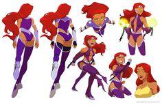 /co/ - Starfire Thread - Comics & Cartoons Teen Titans Starfire, Teen Titans Raven, Nightwing And Starfire, Teen Titans Fanart, Teen Titans Go, Comic Books Art, Comic Art, Arte Nerd, Dc Super Hero Girls