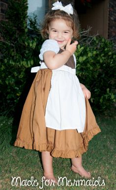 My grandaughter, Sophie, wearing Cinderella's cleaning working rags her Mom makes