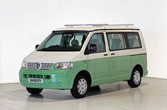 Used VW Classic exterior in two tone paintDoes it look really naff? Transit Camper, Bus Camper, Ford Transit, Vw T5 Campervan, Volkswagen Transporter, Vw Caravelle, Vw Camping, Van Wrap, Van Life