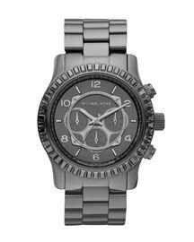 MK watch in gunmetal
