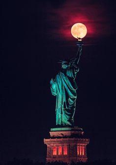 Supermoon enlightening New York                                                                                                                                                                                 More