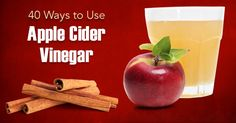 40 quick and easy ways to incorporate all of the health benefits of apple cider vinegar into your diet. You'll be surprised by some of them.