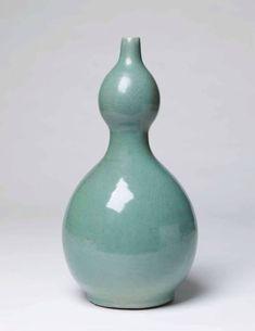 Koryo Celadon Double-Gourd Vase, Koryo Dynasty, c. Korean Art, Vase, Gourds, Galleries, Stoneware, Home Decor, Pumpkins, Decoration Home, Room Decor