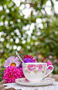 Flowers & tea.