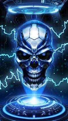 New cool skull live wallpaper! Ghost Rider Wallpaper, Skull Wallpaper, Cool Wallpaper, Iphone Wallpaper, Skull Tattoos, Cool Tattoos, Skull Fire, Grim Reaper Art, Dark Angels