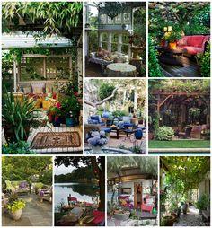 Balzsamos nyáresteken a kertben, teraszon, erkélyen lazítani, eszegetni, iszogatni nekem önmagában is üdülés. Néhány jól megválasztott kiegészítővel (mutatós párnák, vidám izzósorok, szolárlámpák, egy-két hangsúlyos kaspó és virág) máris meghitt hangulatot és kényelmes, pihentető légkört…