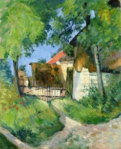 modern landscape High quality painting of Paul Cezanne Entrance to the Farm Rue Remy in Auvers sur Oise Hand painted