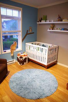 Dual wall color in nursery. Fun!!