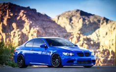 Herunterladen hintergrundbild 4k, bmw m3, e92, tuning, blau, m3, supersportwagen, deutschen autos, bmw