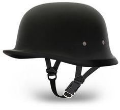 Daytona Novelty German Motorcycle Helmet - Dull Black