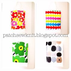 Patch, Sew and Knit!: Marimekko Bags - white base