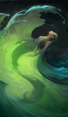♒ Mermaids Among Us ♒ art photography paintings of sea sirens & water maidens - mer green