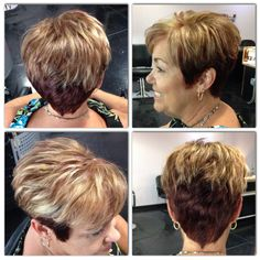 Exclusive, transformation, color, grey hair, grey coverage, short hair, blonde, highlights, color, Titusville, Florida