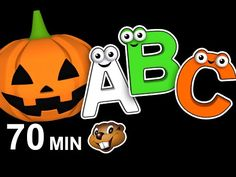 """""""Halloween ABCs"""" Plus More   Busy Beavers Kids Compilation, Learn the Alphabet, Teach Babies - YouTube"""