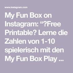 """My Fun Box on Instagram: """"🖨Free Printable🖨  Lerne die Zahlen von 1-10 spielerisch mit den My Fun Box Play Dough Mats☺️ link in Bio👀"""""""