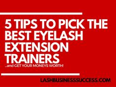 Red flags to look out for if you're considering taking an eyelash extension training! Student beware!