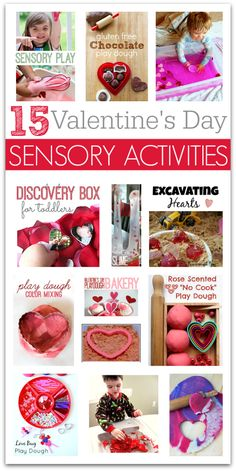 Sensory play ideas for Valentine's day - or any day really! Sensory play ideas for Valentines day - or any day really! Valentine Sensory, Valentine Theme, Valentine Crafts For Kids, Valentines Day Activities, Valentines Day Party, Holiday Crafts, Valentine Ideas, Valentine Games, Holiday Decorations