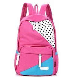 $39.99 - On Sale  [gryxh3200225]  Cute cartoon canvas backpack bag  40CM*27CM*10CM  canvas  cute cartoon  exquisite workmanship  fashion and...
