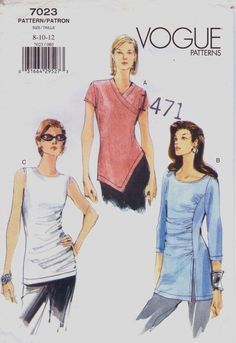 Vogue Sewing Pattern 7023 Womens Shirred or by CloesCloset on Etsy, $9.00