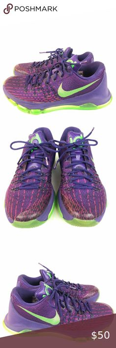 """Nike Zoom KD8 /""""Suit/"""" Youth Shoes Size 5.5y Purple Green Basketball Low WMNS 7"""