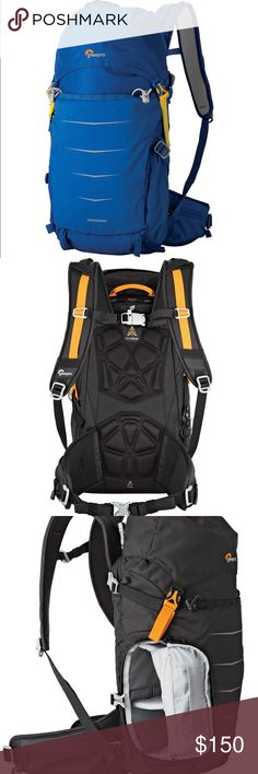 """Lowepro Photo Sport BP 200 AW II (Blue) • Holds DSLR, 1-2 Lenses or Flash • Top Side and Front Access to Gear • Padded Touch-Fastened Interior Divider • Weather Flap & Cinching Top Compartment • Attachment Points for Compact Tripod • Padded Shoulder Straps & Chest Connector • Waist Belt with Quick-Release Buckle • Padded Back Panel • Storage for Optional 2-Liter Reservoir • Built-In All Weather Cover  Interior Dimensions6.3 x 3.5 x 8.1"""" / 16.0 x 9.0 x 20.7 cm Lowepro Bags Backpacks"""