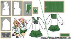HSOTD Uniform Cosplay Pattern Draft by Hollitaima.deviantart.com on @deviantART