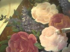 Paint  a Rose - How To Paint Roses with Acrylic paint Part 3/4