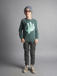 Organic Kid T-Shirt / Hand Trick - Bobo Choses