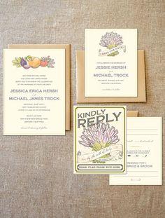 rustic wedding invites & save-the-dates