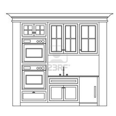 Simple Kitchen Drawing sketch elevation bathroom | kitchen elevation drawings | sketches