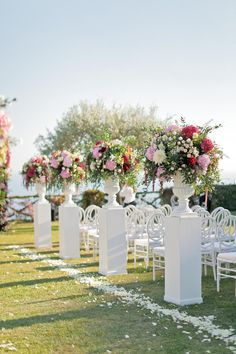 Jun 2019 - This Colorful Amalfi Coast Wedding at Villa Cimbrone Is a Real-Life Fairytale Ceremony Arch, Wedding Ceremony Decorations, Wedding Venues, Wedding Aisles, Church Wedding, Wedding Reception, Space Wedding, Mod Wedding, Summer Wedding