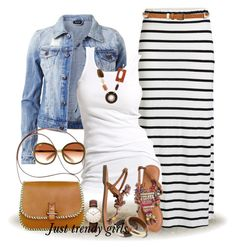 Maxi tube skirt outfit Stripes maxi skirts styling ideas www.justtrendygir… Maxi tube skirt outfit Stripes maxi skirts styling ideas www. Mode Outfits, Chic Outfits, Spring Outfits, Fashion Outfits, Fashion Trends, Maxi Skirt Outfits, Striped Maxi Skirts, Long Maxi Skirts, Tube Skirt