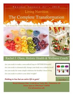 Event in Canada Jan 21st!   Caring & Sharing...if you want more details.  Check out www.shelbymeyer.juiceplus.com